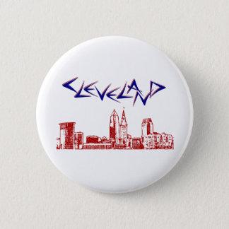 Cleveland-Skyline Runder Button 5,1 Cm