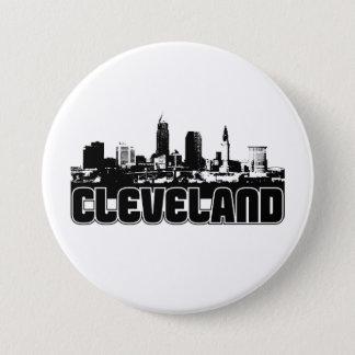 Cleveland-Skyline Runder Button 7,6 Cm