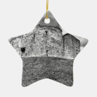 Cliffords Turm in historischem Gebäude Yorks Keramik Stern-Ornament
