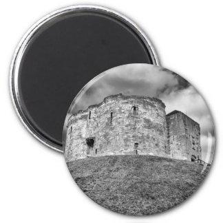 Cliffords Turm in historischem Gebäude Yorks Runder Magnet 5,1 Cm