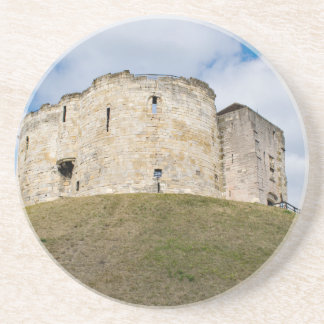 Cliffords Turm in historischem Gebäude Yorks Sandstein Untersetzer