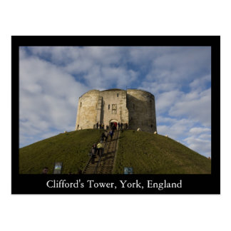 Cliffords Turm, York, England Postkarte