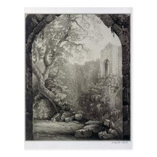 Cliffords Turm, York, Innenraum, 1827 Postkarte