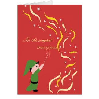 Clive der magische Elf - Weihnachtskarte Karte