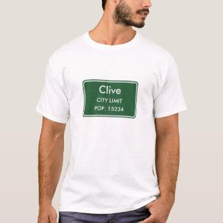 Clive Iowa City Grenze-Zeichen T-Shirt