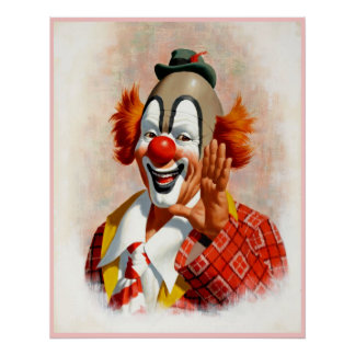 Clown, der 2 malt poster