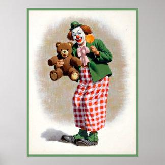 Clown, der 4 malt poster