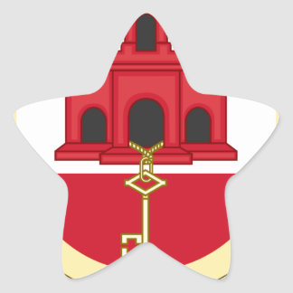 Coat_of_Arms_of_Gibraltar Stern-Aufkleber