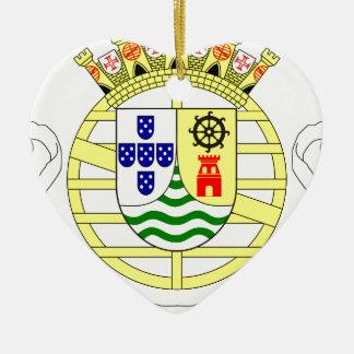 Coat_of_arms_of_Portuguese_India_ (1935-1951) Keramik Herz-Ornament