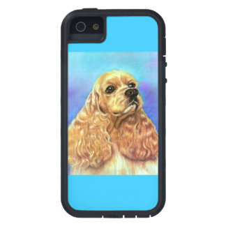 COCKER SPANIEL-KUNST-DRUCK iPhone 5 ETUI