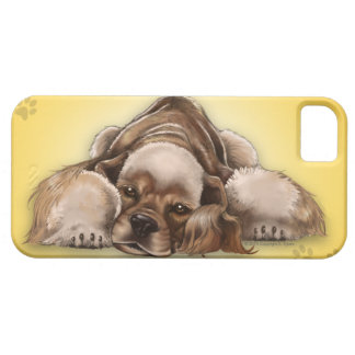 Cockerspaniel-HundiPhone 5 Amerikaner-Cocker iPhone 5 Etui