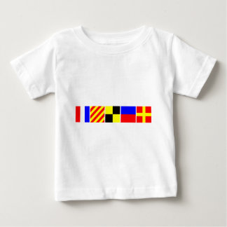 Code-Flagge Tyler Baby T-shirt