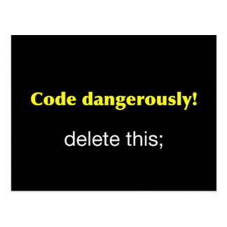 Code gefährlich postkarte