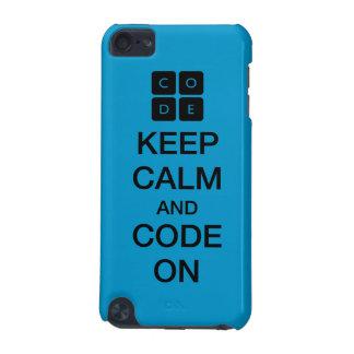 """Code.org """"behalten Ruhe und Code auf """" iPod Touch 5G Hülle"""