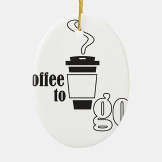 coffee to go ovales keramik ornament