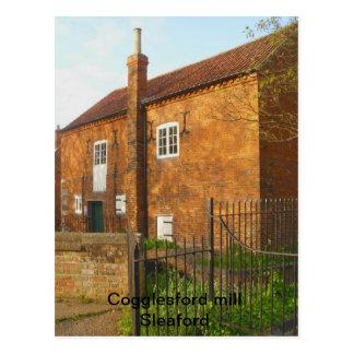 Cogglesford Mühle Sleaford, Lincolnshire Postkarte