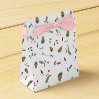 Collage der Blume auf weißem Hintergrund Geschenkschachteln