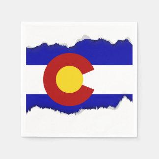 Colorado-Flagge Papierservietten