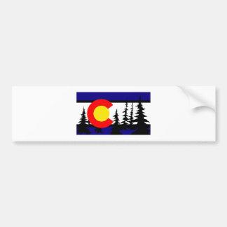 Colorado-Flaggen-Baum-Silhouette Autoaufkleber