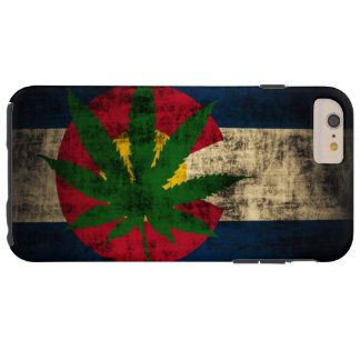 Colorado-Flaggen-Topf-Blatt Tough iPhone 6 Plus Hülle