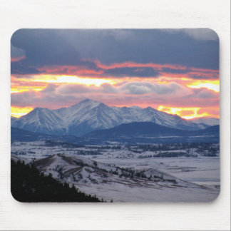 Colorado-Gebirgssonnenuntergang Mousepad