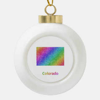Colorado Keramik Kugel-Ornament