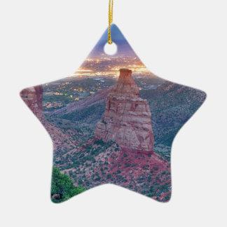 Colorado_National _Monument_City_Lights Keramik Stern-Ornament