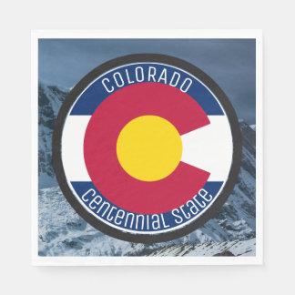 Colorado-Rundschreiben-Flagge Papierservietten