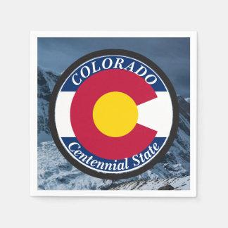 Colorado-Rundschreiben-Flagge Serviette