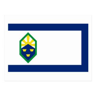 Colorado Springs-Flagge Postkarte