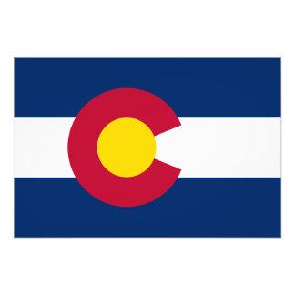 Colorado-Staats-Flagge Kunstfoto
