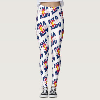 Colorado-Staatsflaggen-Textmuster Leggings