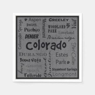 Colorado-Stadttypographieservietten Papierservietten