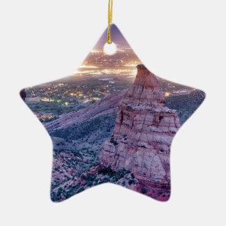 Colorado-Unabhängigkeits-Monument-und Keramik Stern-Ornament