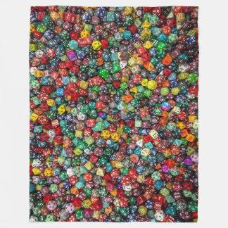 Colorfull Dice Blanket Fleecedecke