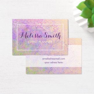 Colorfull Hintergrund-Entwurfs-Visitenkarte Visitenkarte