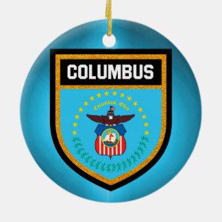 Columbus-Flagge Keramik Ornament