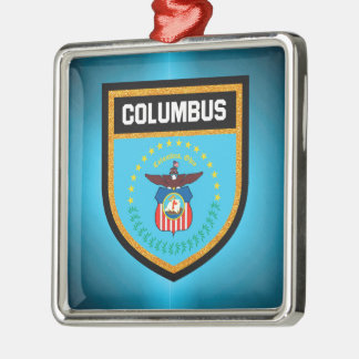 Columbus-Flagge Silbernes Ornament