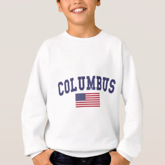 Columbus IN US-Flagge Sweatshirt