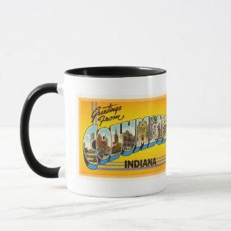 Columbus Indiana in der alten Vintagen Tasse