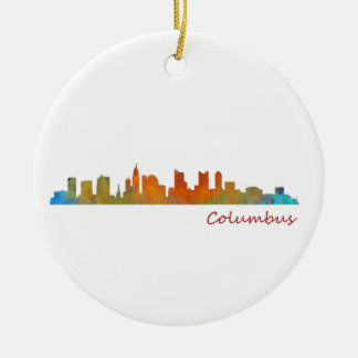 Columbus Ohio, City Skyline, v1, Keramik Ornament