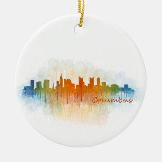 Columbus Ohio, City Skyline, v3, Keramik Ornament