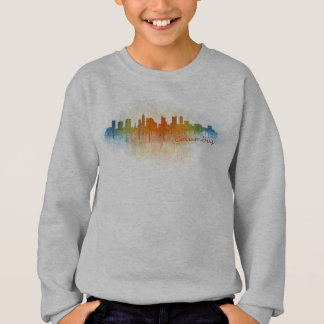 Columbus Ohio, City Skyline, v3, Sweatshirt