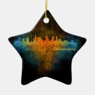 Columbus Ohio, City Skyline, v4, Keramik Ornament