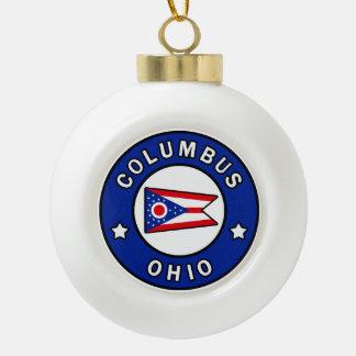 Columbus Ohio Keramik Kugel-Ornament