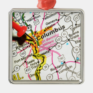 Columbus, Ohio Silbernes Ornament