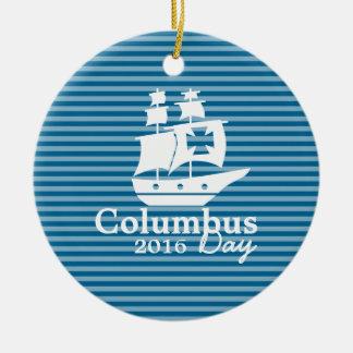 Columbus-Tagesverzierung Keramik Ornament