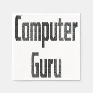 Computer-Guru-Grau Papierservietten