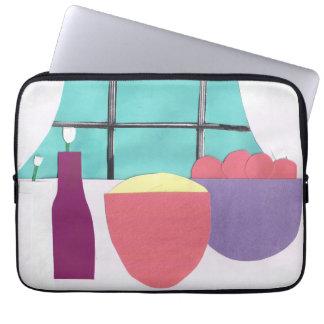 Computer-Hülse mit Küchen-Szene Laptopschutzhülle