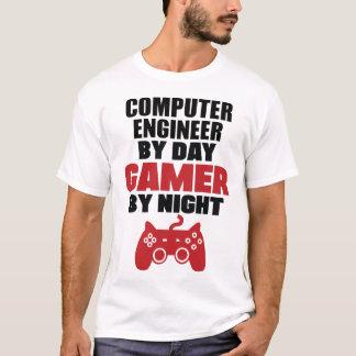 Computertechniker durch Tagesgamer bis zum Nacht T-Shirt